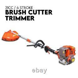 31cc Pole Brush Cutter Trimmer Line Whipper Snipper Tree Pruner Multi Garden