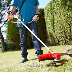 49cc Petrol Lightweight Grass Lawn Edge Weed Strimmer & Brushcutter Cordless