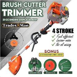 4 STROKE Brush Cutter Pole Whipper Snipper Lawn Trimmer Edger Brushcutter 31cc