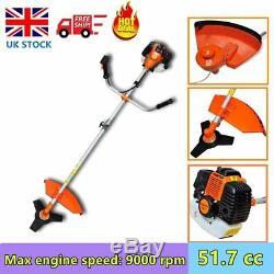 52CC Powerful Petrol Strimmer Brush Cutter Grass Garden Lawn Cutting Tool Sale