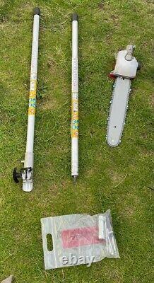 52cc 5 in 1 Hedge Trimmer Multi Tool Petrol Strimmer Brush Cutter Garden