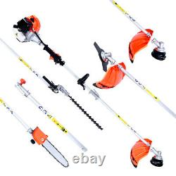 52cc 5 in 1 Multi Function Garden Tool Brush Cutter, Grass Trimmer, Chainsaw