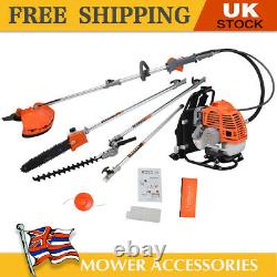 52cc 5 in 1 Petrol Backpack Strimmer Brush Cutter Chainsaw Garden Hedge trimmer