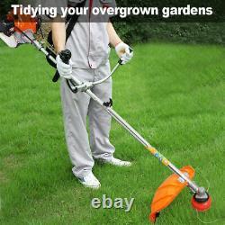 52cc Multi Petrol Garden Brush Cutter Grass Line Trimmer Strimmer Lawn Mower