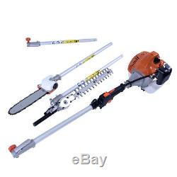52cc Multifunction 5 in 1 Petrol Garden Tool Brush Cutter Grass Trimmer Chainsaw