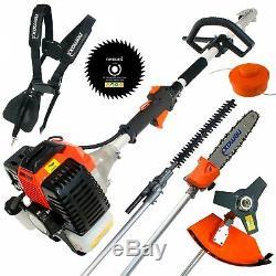52cc petrol brushcutter 5in1 gardening multi tool set brush cutter hedge trimmer