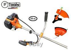 55cc Petrol Gasoline Engine Grass Strimmer Trimmer Brush Cutter Blade Garden Kit
