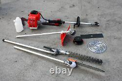 5 IN 1 52cc Gas Pole Saw Multi Yard Chainsaw Hedge Trimmer Line Brush Cutter