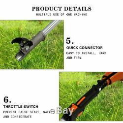 5 in1 Garden Grass Hedge Trimmer Set Petrol Strimmer Chainsaw Brush Cutter 52cc