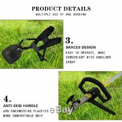 5 in1 Garden Hedge Trimmer Petrol Strimmer Chainsaw Brushcutter Multi Tools 52cc