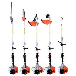 5in1 Multi Function Garden Tool 52cc Petrol Brush Cutter Chainsaw Grass Trimmer