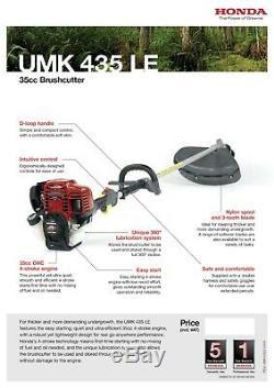 Brand New Honda UMK 435 LE 35cc Brushcutter