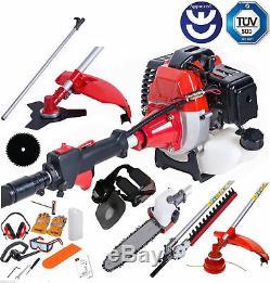 DEALOURUS Multi Function Garden Tool 5in1 Petrol Strimmer Brush Cutter Chainsaw