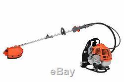 ESkde Back Pack 2 in 1 Brush Cutter Strimmer Kit 52cc 2 Stroke Petrol