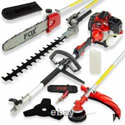 FOX 4 in 1 Garden Multi Tool Hedge Cutter Chainsaw Grass Trimmer & Brush Cutter