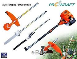 Garden Multi-Tool System 4 in 1 Brush Cutter, Grass Hedge Trimmer & Chainsaw