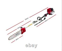 Giantz 4-STROKE Pole Chainsaw Brush Cutter Hedge Trimmer Saw Multi Tool