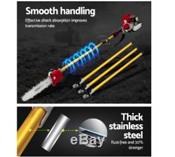 Giantz 75cc Pole Chainsaw Brush Cutter Hedge Trimmer Petrol Long Reach Whipper