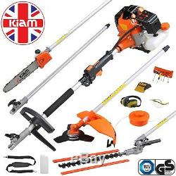 Kiam 58cc 5in1 Multi Tool Petrol Hedge Trimmer Strimmer Brush Cutter Chainsaw