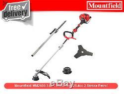 Mountfield MM2603 3-in-1 Multi-Tool 25.4cc 2 Stroke Petrol Hedge Trimmer