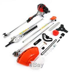 Multi Function Garden Tool 4 in 1 Petrol Trimmer Grass Brush Cutter Chainsaw