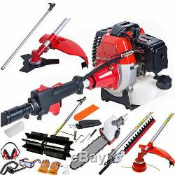 Multi Function Garden Tool 5in1 Petrol Strimmer Brush Cutter Chainsaw sweeper