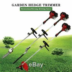 Multi-Tool 5 in1 Hedge Trimmer Petrol Strimmer Chainsaw Garden Brushcutter 52cc