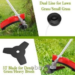 Petrol Garden Grass Trimmer Brush Bush Cutter 52cc Strimmer Lawn Mower UK