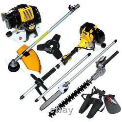 Petrol Power Garden Trimming Tool Set Hedge Trimmer Brush Cutter Strimmer 2836