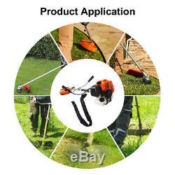 Powerful Petrol Strimmer Brush Cutter Grass Garden Lawn Cutting Tools 2, 52CC