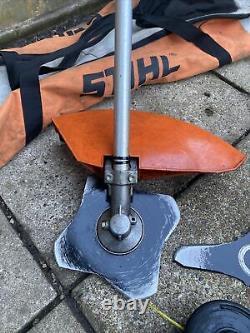 STIHL FS-KM COMBI STRIMMER / BRUSHCUTTER ATTACHMENT With Bag, Spool, 3x Blades