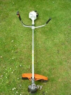 Stihl FS55 Petrol Strimmer with Brushcutter Blade instructions and Tools