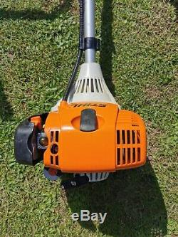 Stihl FS87 2 Stroke 4 Mix Petrol Cow Horn Strimmer Brush Cutter Serviced