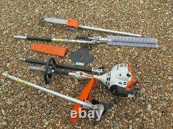 Stihl Kombi Km56rc With Brush Cutter And Pole Chainsaw / Hedge Cutter Ext