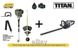 TITAN Strimmer and Hedge Trimmer 2 Stroke Petrol 25cc