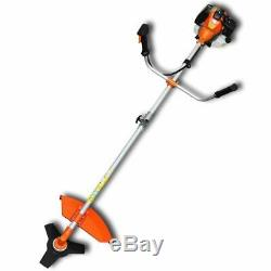 VidaXL Brush Cutter Grass Trimmer 51.7 cc Orange 2.2kW Lawn Mower Grass Edger