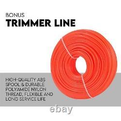 4 Stroke Whipper Snipper Ligne Droite De L'arbre Trimmer 31cc Pole Brosse Cutter