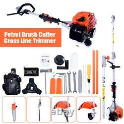 52 CC 5 En 1 Pétrol Strimmer Brush Cutter, Hedge Trimmer Chainsaw Multi Outol Nouveau