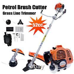52cc Multi Petrol Garden Brosse Cutter Grass Line Trimmer Strimmer Tondeuse De Pelouse Royaume-uni
