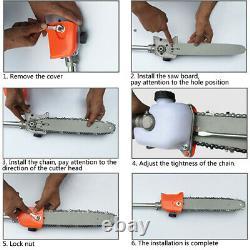 5 En 1 52cc Essence Hedge Trimmer Chainsaw Brush Cutter Pole Saw Outils Extérieurs