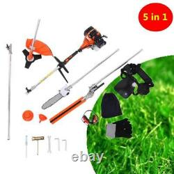 5 En 1 52cc Petrol Hedge Trimmer Chainsaw Brush Cutter Pole Saw Outdoor Tools Hw