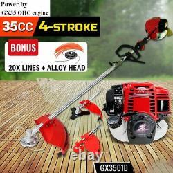 Coupe-herbe 4 Temps Gx35 Moteur Brushcutter Gaz Strimmer Pruner