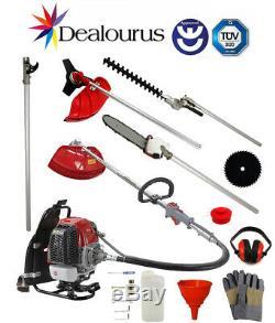 Dealourus De Petrol Multi Tool Back Pack Débroussailleuse Taille-haie Sécateur 52c