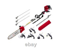 Giantz 4-stroke Pole Chainsaw Débroussailleuse Taille-haie Scie Multi Tool