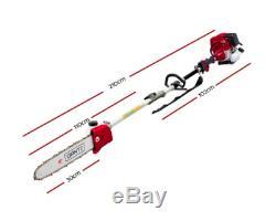 Giantz 65cc Pole Chainsaw Débroussailleuse Whipper Snipper Taille-haie Sécateur