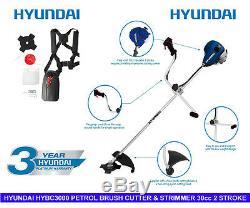 Hyundai Hybc3000 Essence Débroussailleuse & 2 Stoke Tondeuse À Gazon 30cc Avec Le Kit D'accessoires
