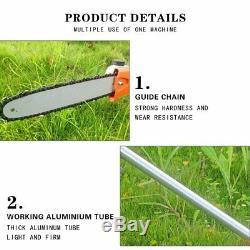 Jardin Multi Tool Tondeuse À Gazon Taille-haie Essence Chainsaw Débroussailleuse 52cc 5 En 1
