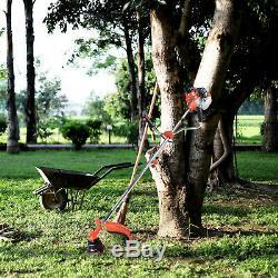 Jardin Trimmer Tondeuse À Gazon Débroussailleuse Essence Puissant 52cc 2 X Huile + 2 X Cordon