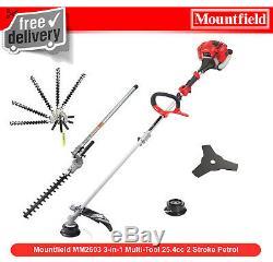 Mountfieldles Mm2603 3-in-1 Multi-tool 25.4cc 2 Stroke Essence Taille-haies