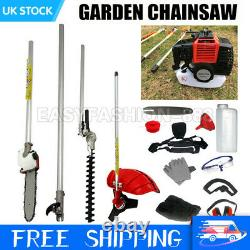 Royaume-uni 52cc Petrol Grass Strimmer Brush Cutter Chainsaw Hedge Trimmer Garden Royaume-uni